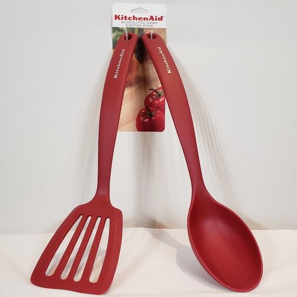 Kitchenaid Nylon Slotted Turner Basting Spoon Nwt